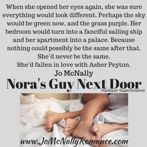 Nora's Guy Next Door Nothing the Same